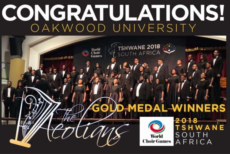 Aeolians Bring Home the Gold from 2018 World Choir Games
