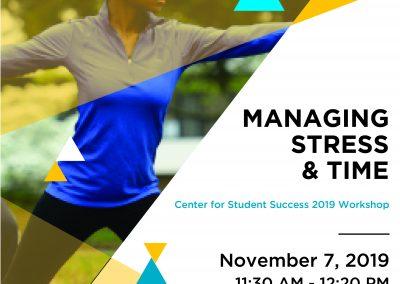 Managing Stress Flyer 2019